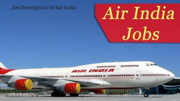 Sample Job description of Air India